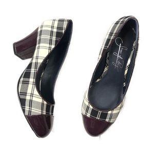 Shoes of Prey Plaid Patent Leather Cap Toe Pump
